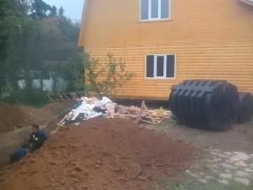 Установка профессиональной канализации дачи